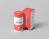 Supplement Jar & Box Mock-up 4