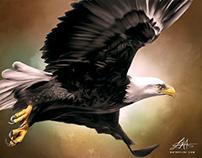 "American ""Bald"" Eagle Digital Art by Wayne Flint"