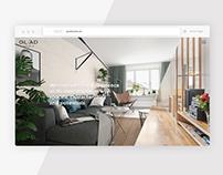 interactive web for innovative interior design studio