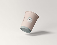 Floating Coffee Cup Mockup