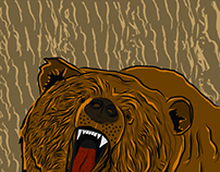 Grizzly Illustration