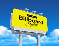 Free 2:1 Rounded Corners Billboard Mockup PSD