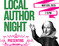 Local Author Night; May 5th 2015