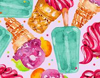 Ice Cream Print Design