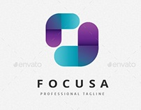 Abstract Focus Frame Logo