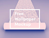 Free Wallaper PSD Mockup - 3 angles