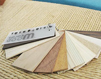 単語帳のような木材サンプル / Wood cards