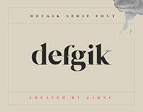defgik serif font