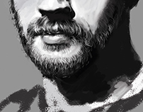 Tom Hardy digital portrait