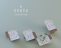 One second table by SVOYA studio