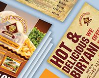 Brand Identity Flyers - Brochures - Posters - Menu card