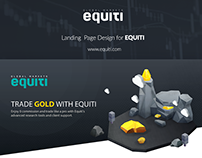 Gold Landing Page Design For Equiti