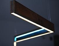 Zigzag hanging lamp