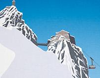 Chamonix Ski Poster