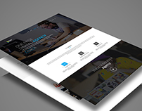 One page agency template