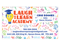 Laugh and Learn Business Card