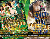 Kiss me I'm Irish St. Patrick's Day Party Flyer Design