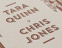 Tara & Chris — Letterpress Wedding Invitation
