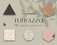 Terrazzo seamless patterns set
