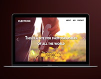 Electron Web Design - One Page