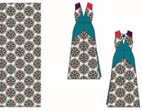 CAD original repeat pattern and flat design
