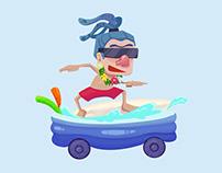 'Surfer' - Original Character Concept