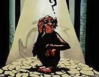 Illustrated monkey.
