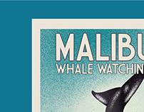 Malibu Whale Watching Poster