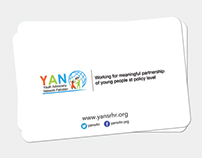 Youth Advocacy Network Business Cards Design
