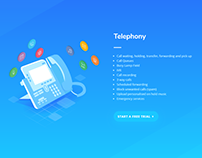 VoIP Website Illustrations Designs