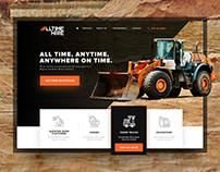 All Time Hire | Website Design Project