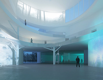 Helsinki museum competition. Rendering for StudioSperi