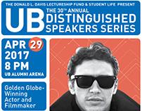 UB Distinguished Speakers Series Posters