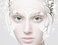 Model, manipulation,ornamental,white