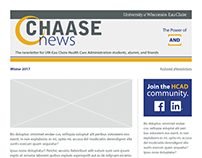 CHAASE news email template