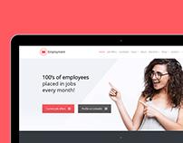 Tablet View - Employment WordPress Theme