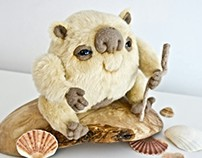 Dune Troll, fantasy creature, OOAK soft art toy