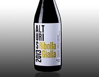 Redesign - Typografische Weinflasche