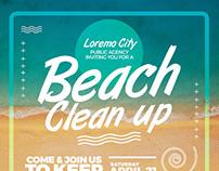 Beach Clean Up Flyer Templates
