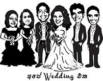 Western comic book themed wedding card