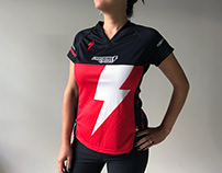 Branding for Lightning Cycles MTB jersey