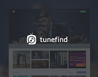 Tunefind UX/UI - Redesign of Music Sourcing Platform