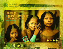The Rainforest Foundation Responsive Website Design