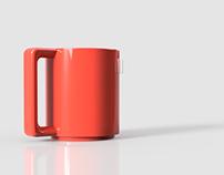 Vignelli Tea Mug Computer Model (w/ Brainstorming)
