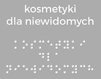 kosmetyki dla osób niewidomych/niedowidzących