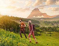 Hikers + Landscape
