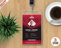Print Ready Corporate ID Card Design PSD