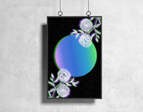 Floral Globe Poster Design