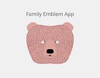 Concept for family emblem app