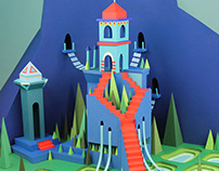 The PaperCut staircase castle